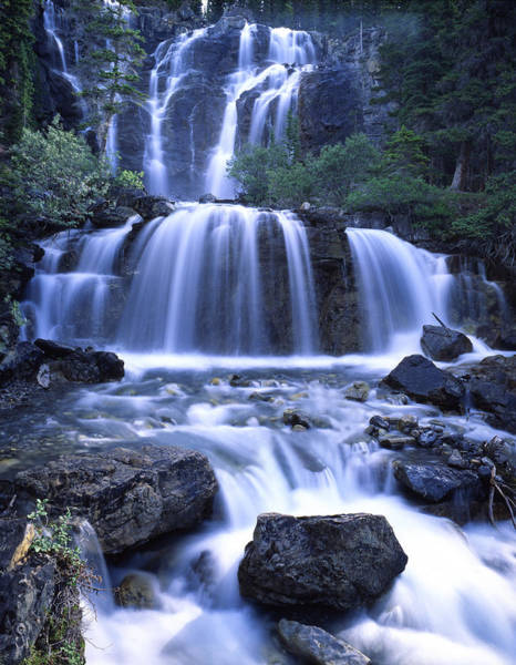 Photograph - Icefield Parkway Falls by Ray Mathis