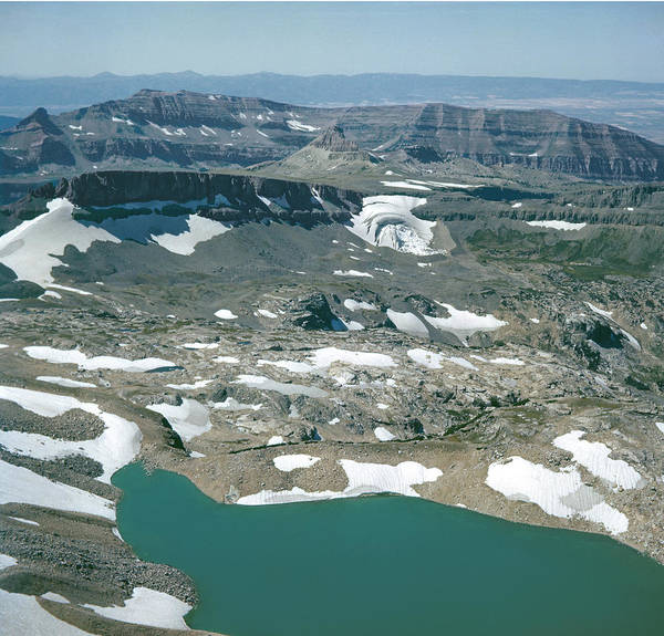 Photograph - T-109212-schoolroom Glacier From Middle Teton by Ed  Cooper Photography