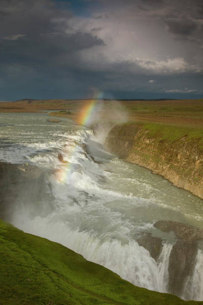 Don Photograph - Iceland A Rainbow Arcs Over The Upper by Jaynes Gallery