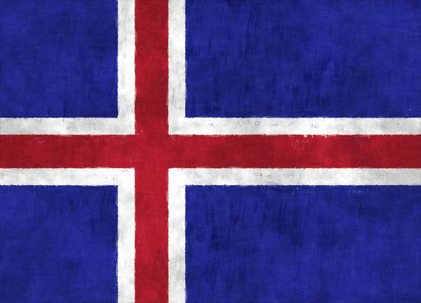 Iceland Digital Art - Iceland Flag by World Art Prints And Designs