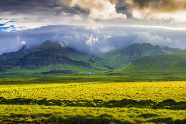 Photograph - Iceland Landscape Snaefellsnes With Amazing Light by Matthias Hauser