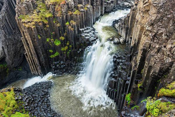 Basalt Columns Photograph - Iceland, Litlanesfoss by Jaynes Gallery