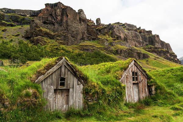 Farmstead Photograph - Iceland, Nupsstadur Turf Farmstead by Ellen Goff