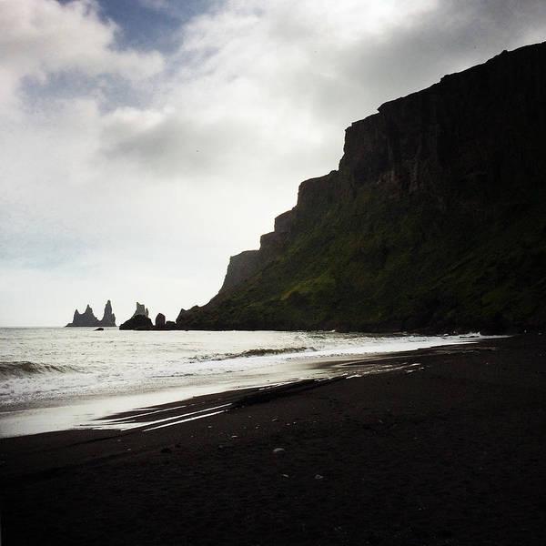 Square Wall Art - Photograph - Iceland Vik Reynisdrangar Cliffs And Ocean by Matthias Hauser