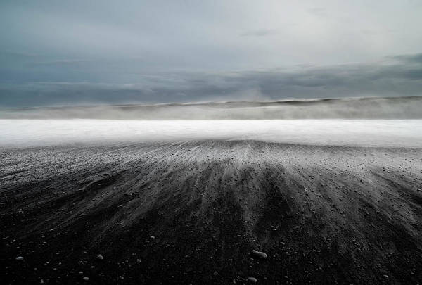 Black Cloud Photograph - Iceland Vik by Ronny Olsson