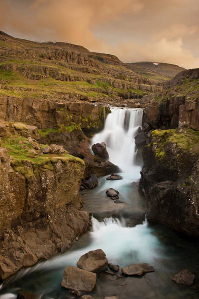 Don Photograph - Iceland Waterfall In Berufjordur Fjord by Jaynes Gallery