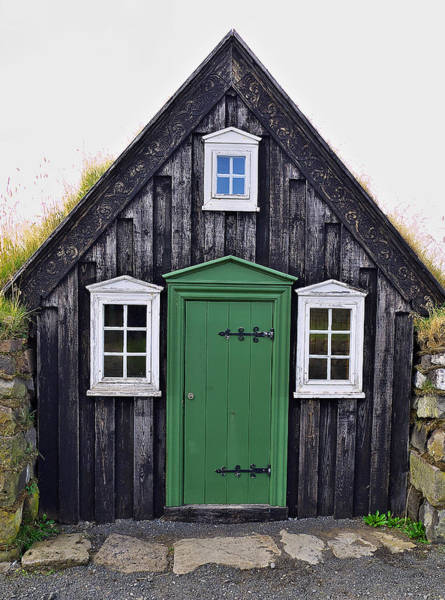Photograph - Icelandic Old House by Ivan Slosar