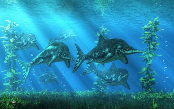 Digital Art - Ichthyosaurs by Daniel Eskridge