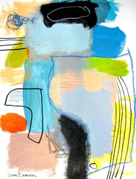 Painting - Ici Et La  by Diane Desrochers