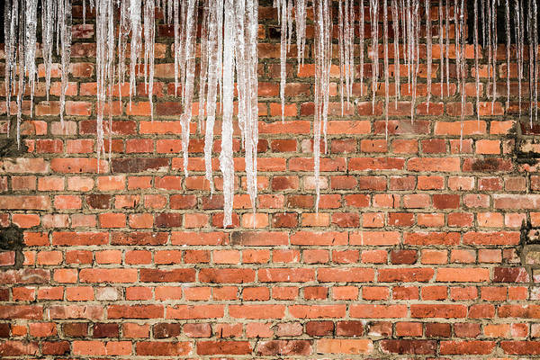 Concentration Camp Photograph - Icicles On Prison Block At Auschwitz by Huw Jones