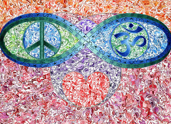 Om Wall Art - Drawing - Iciplu by Dave Migliore