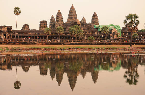 Cambodian Photograph - Iconic Angkor Wat Reflecting In Lake by Oliver J Davis Photography
