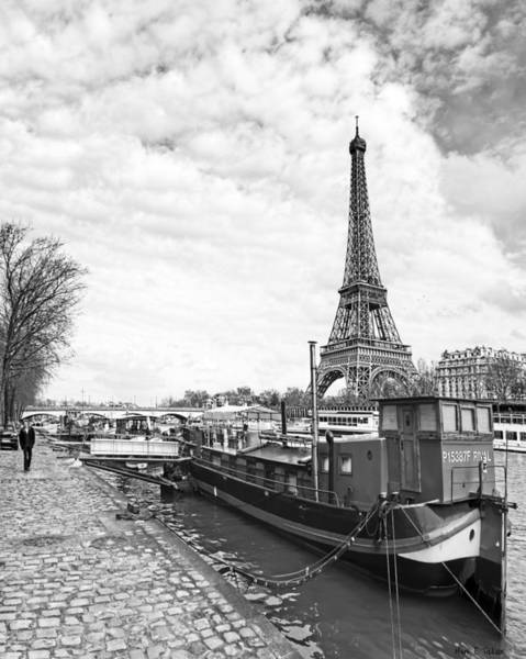 Photograph - Iconic Eiffel Tower From The Banks Of The Seine by Mark E Tisdale