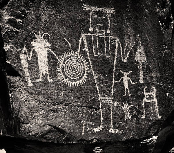 Photograph - Iconic Petroglyphs From The Freemont Culture by Melany Sarafis