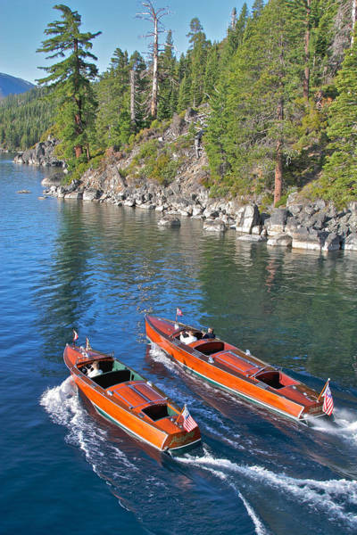 Photograph - Iconic Tahoe Speedboats by Steven Lapkin