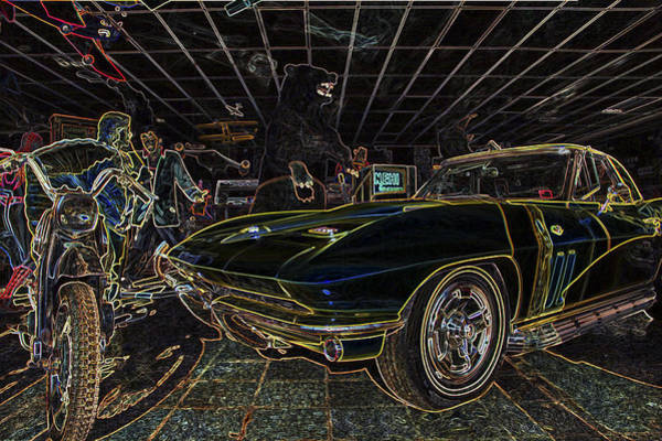 Photograph - Icons Of Americana Stylized - Corvette - Elvis - Marilyn by Jason Politte
