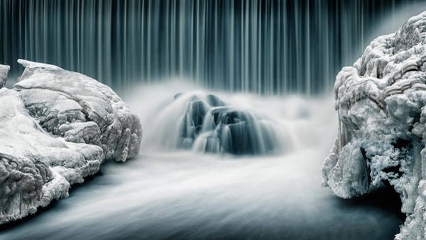 Silky Wall Art - Photograph - Icy Falls by Keijo Savolainen