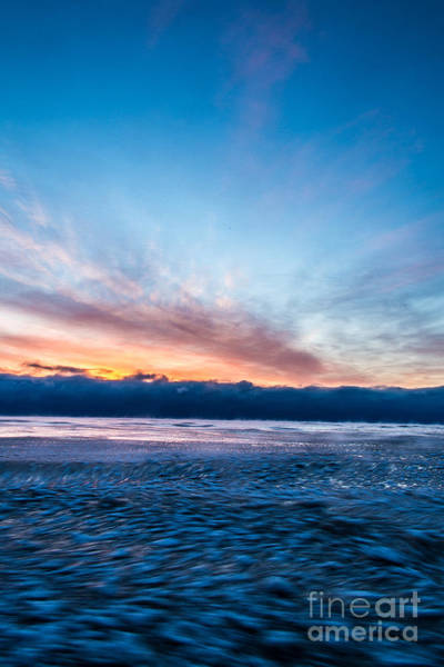 Wall Art - Photograph - Icy Lake Michigan Rush by Andrew Slater