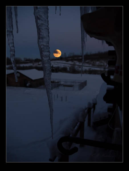 Wall Art - Photograph - Icy Moonrise by Keith Hutchings
