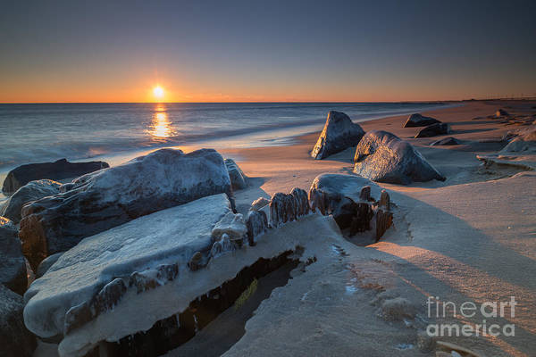 Sandy Hook Wall Art - Photograph - Icy Morning At Sandy Hook  by Michael Ver Sprill