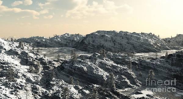 Fairy Pools Digital Art - Icy Mountain Lakes by Fairy Fantasies
