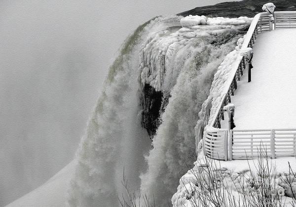 Photograph - Icy Plunge At Niagara Falls by Rose Santuci-Sofranko