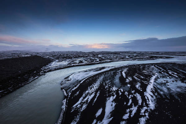1 Photograph - Icy River Channels At Dusk by Ed Norton