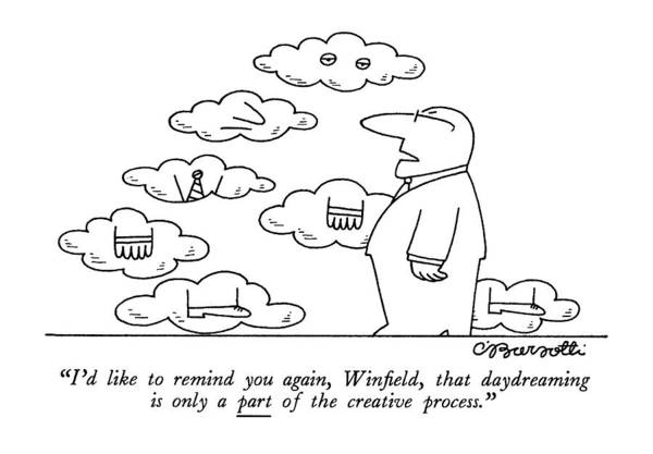 Win Drawing - I'd Like To Remind by Charles Barsotti