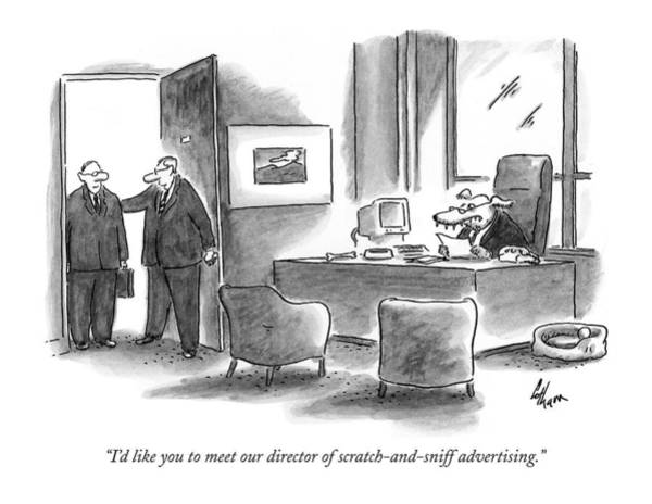 Advertising Drawing - I'd Like You To Meet Our Director by Frank Cotham