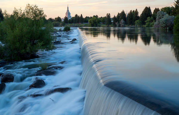Idaho Falls Sunset Art Print