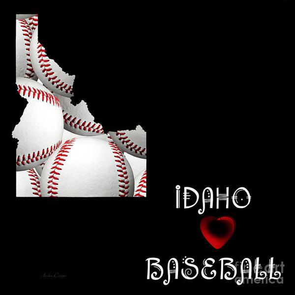 Digital Art - Idaho Loves Baseball by Andee Design