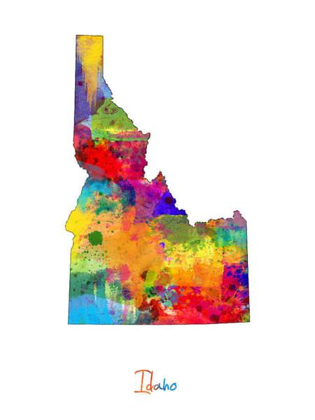 Idaho Map Art Print