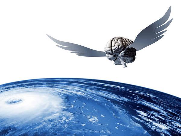 Earth Orbit Photograph - Idea Taking Flight by Laguna Design