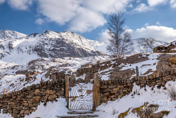 Iron Fence Wall Art - Photograph - Idwal Gate by Adrian Evans