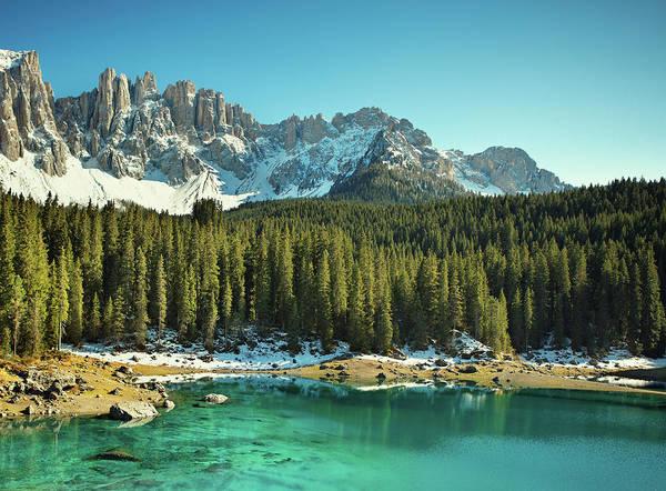 Turquoise Lake Photograph - Idyllic Mountain Lake by Mammuth