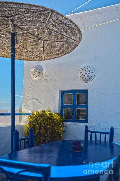 Taverna Photograph - Idyllic Outdoor Restaurant by Patricia Hofmeester