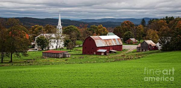 Photograph - Idyllic Vermont Small Town by Edward Fielding