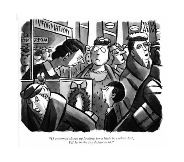 Drawing - If A Woman Shows Up Looking For A Little Boy by Peter Arno