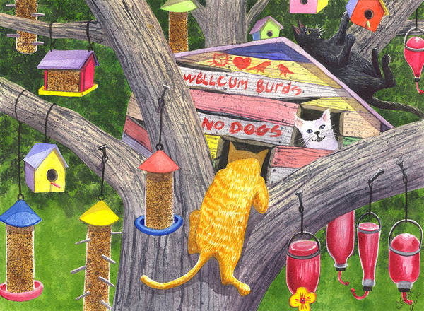 Painting - If Cats Could Pound Nails by Catherine G McElroy