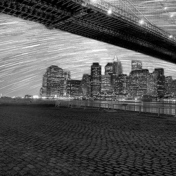 Abstract Skyline Wall Art - Photograph - If Only Nyc Had No Light Pollution by Kurt Von Weisenstein