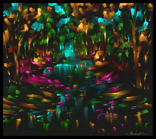 Wall Art - Painting - If The Woods Could by Steven Lebron Langston