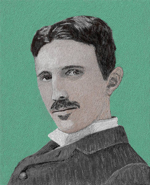 Cannon Beach Painting - If You Could Read My Mind...tesla by G Cannon