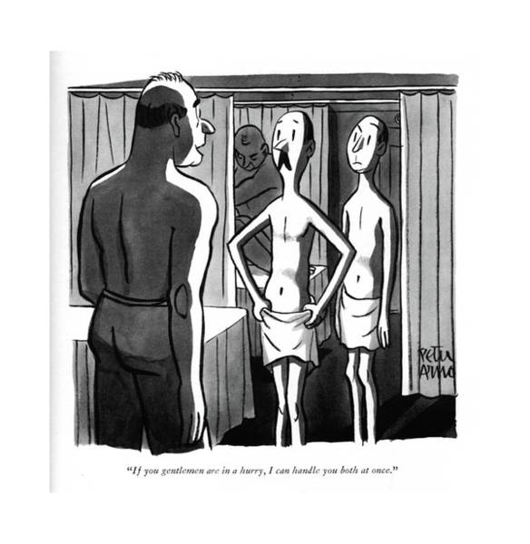 Skinny Drawing - If You Gentlemen Are In A Hurry by Peter Arno