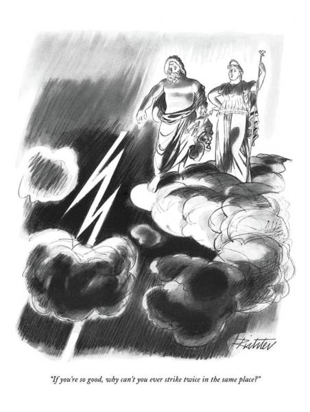 Mythology Drawing - If You're So Good by Mischa Richter