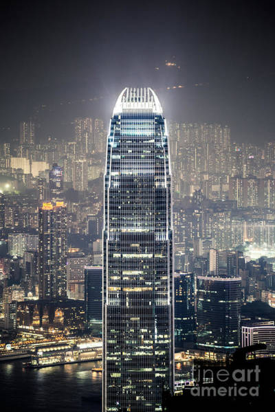 Wall Art - Photograph - Ifc Tower And City Of Hong Kong At Night by Matteo Colombo