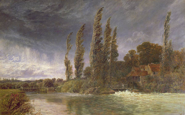Poplar Painting - Iffley Mill, 1884 by George Vicat Cole
