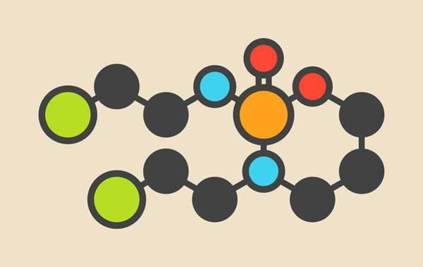 Mustard Photograph - Ifosfamide Cancer Drug Molecule by Molekuul
