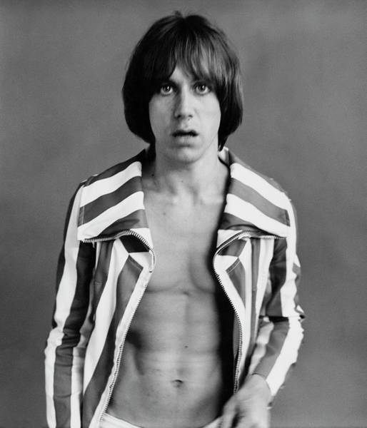 Singer Photograph - Iggy Pop Wearing A Striped Jacket by Peter Hujar