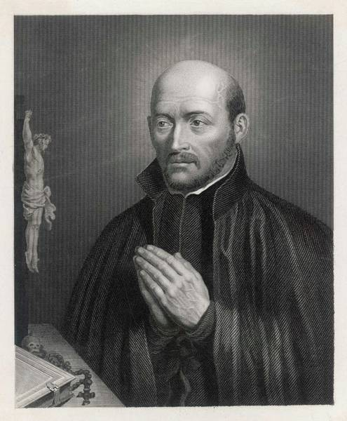 Attitude Drawing - Ignatius Loyola  (1491 - 1556), Spanish by Mary Evans Picture Library