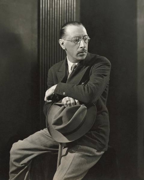 Eyewear Photograph - Igor Stravinsky With A Hat by George Hoyningen-Huene